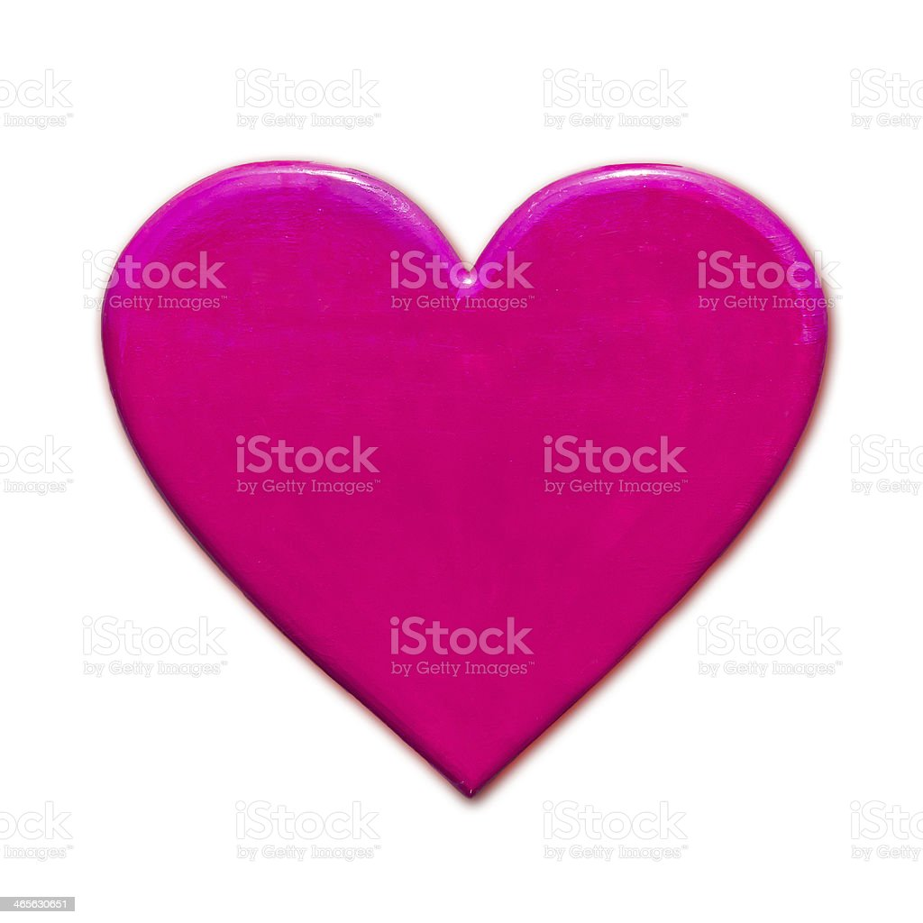 Pink Heart shape royalty-free stock photo