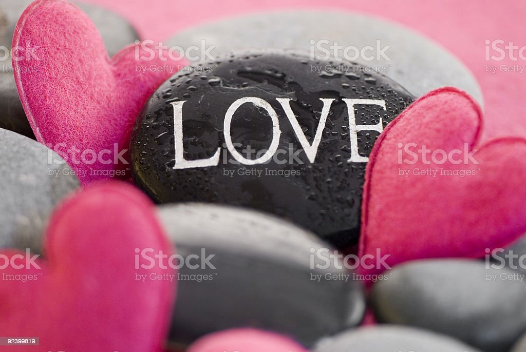 pink heart with stone royalty-free stock photo
