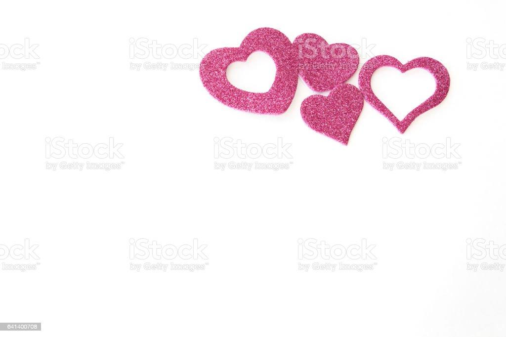 pink hearts stock photo