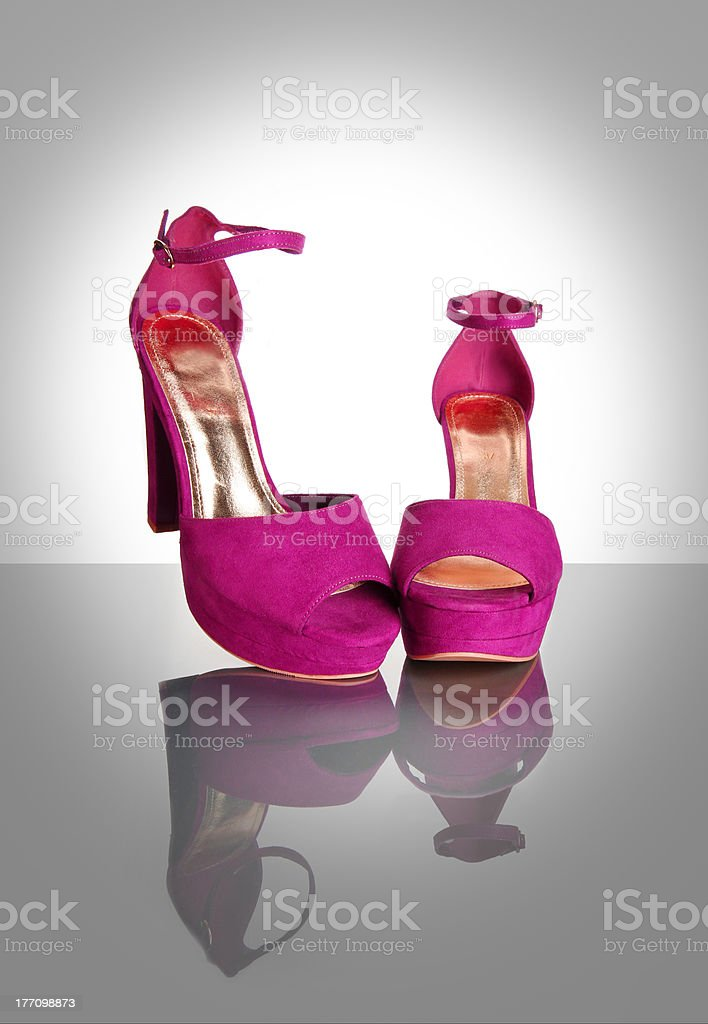 pink high heels stock photo