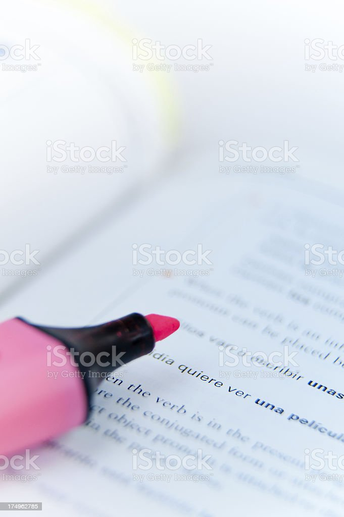 Pink Highlighter royalty-free stock photo