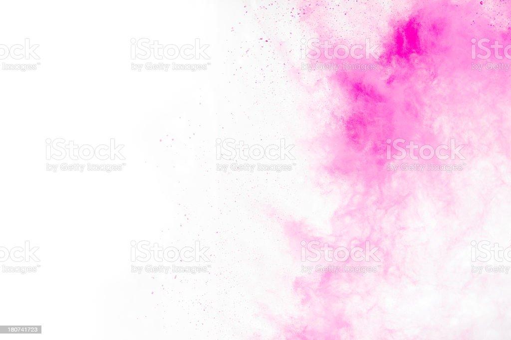 Pink Holi Powder background stock photo