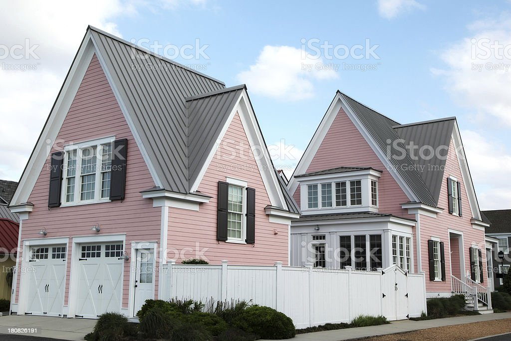 Pink Home royalty-free stock photo