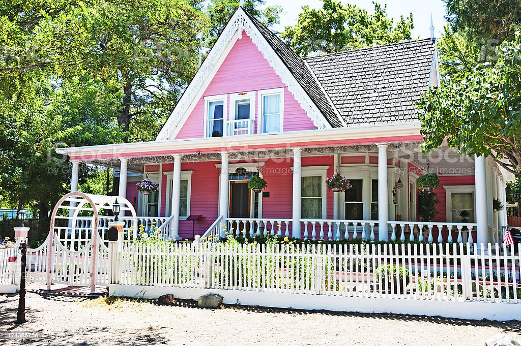 Pink House stock photo