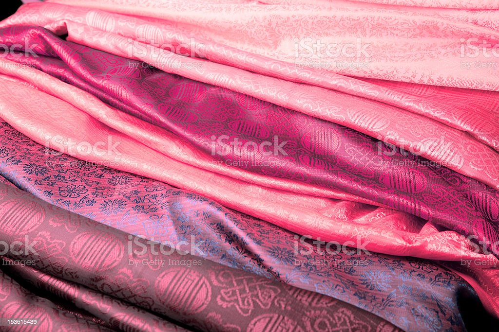 Pink Indian fabric royalty-free stock photo