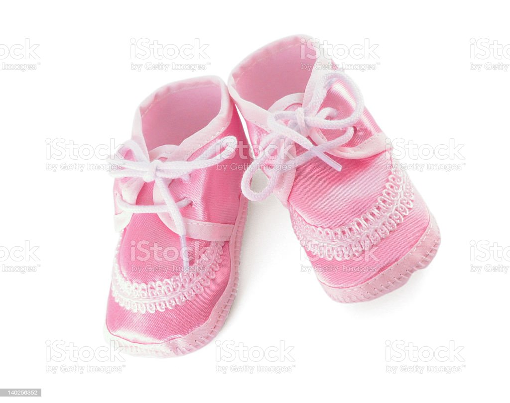 Pink Infant Shoes royalty-free stock photo