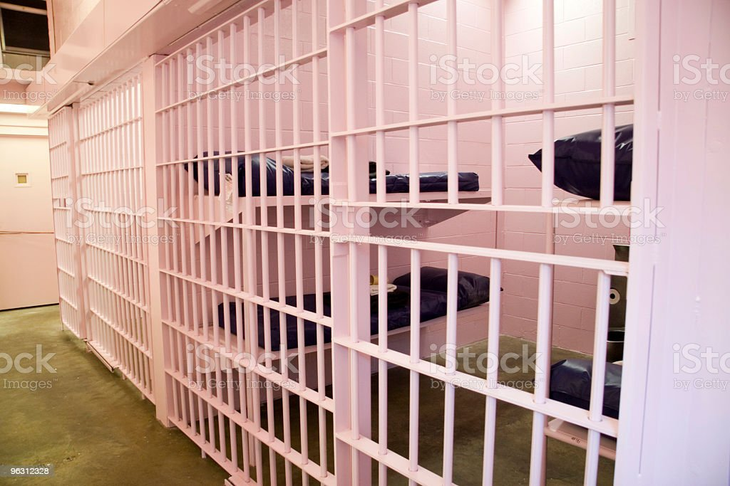 Pink Jail Cell stock photo