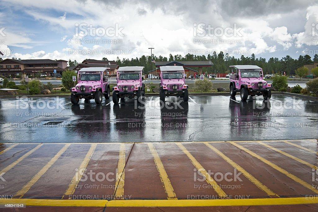 Pink Jeep Tours in Arizona USA stock photo