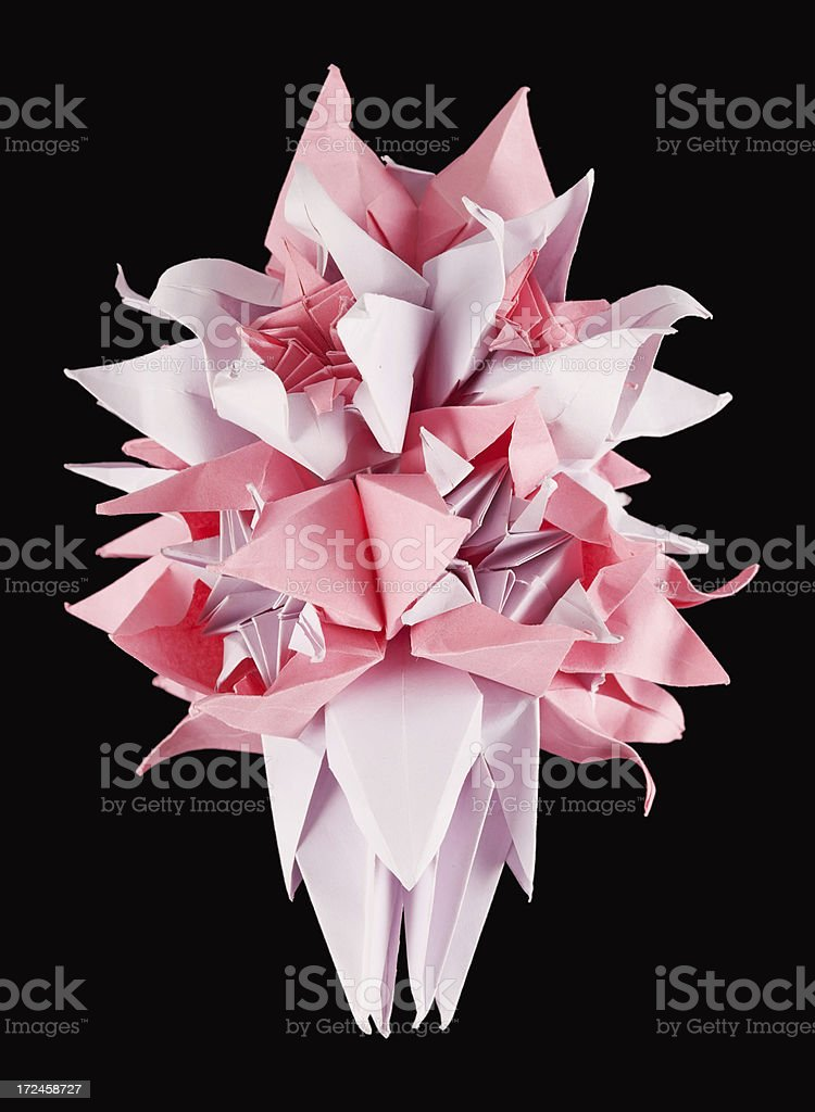 Pink kusudama flower royalty-free stock photo