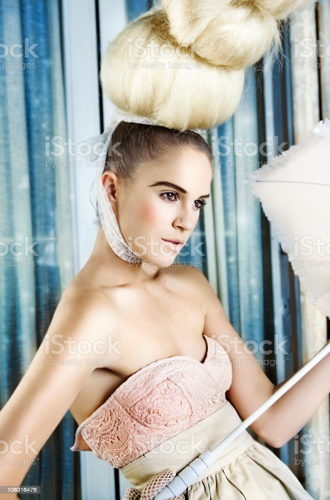 Pink lady stock photo