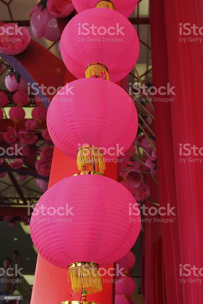 Pink Lantern royalty-free stock photo