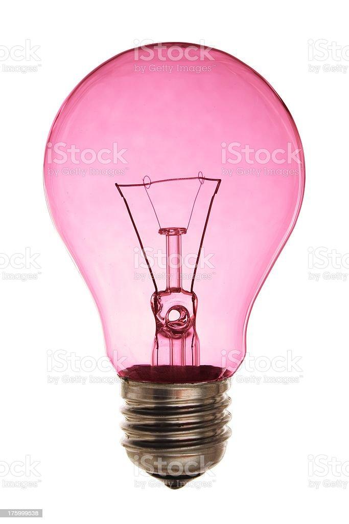 Pink light bulb. royalty-free stock photo