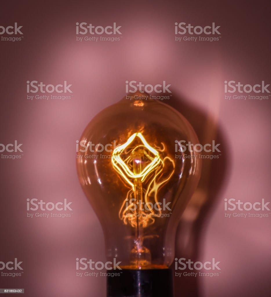 Pink Light Bulb stock photo