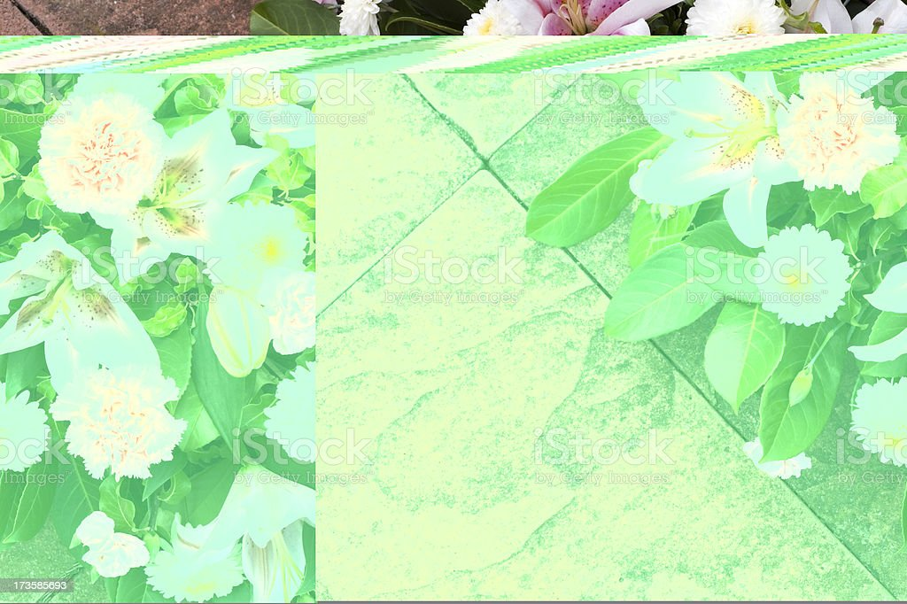 Pink lilies diagonal royalty-free stock photo
