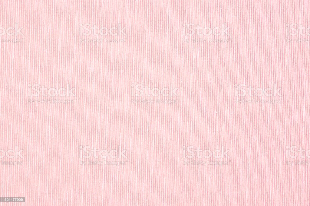 pink linen surface - close up of pastel textile background stock photo