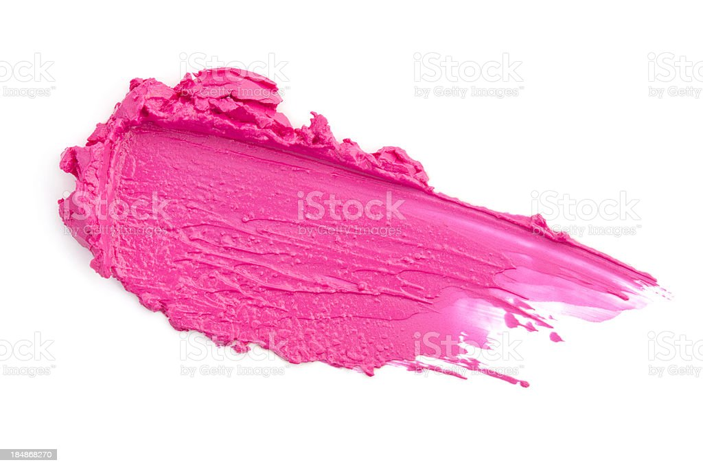 Pink lipstick smears royalty-free stock photo