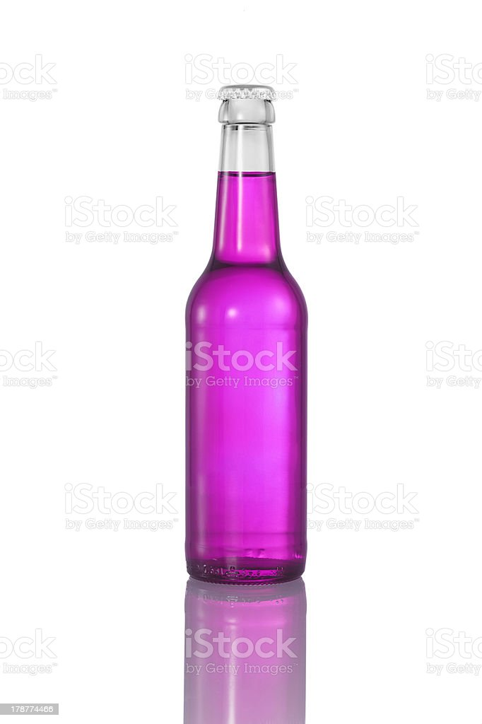 pink liquid in bottle royalty-free stock photo