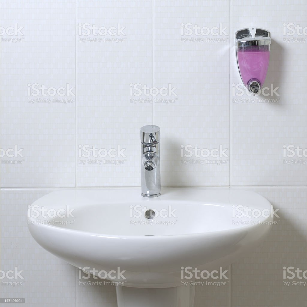 Pink Liquid Soap stock photo
