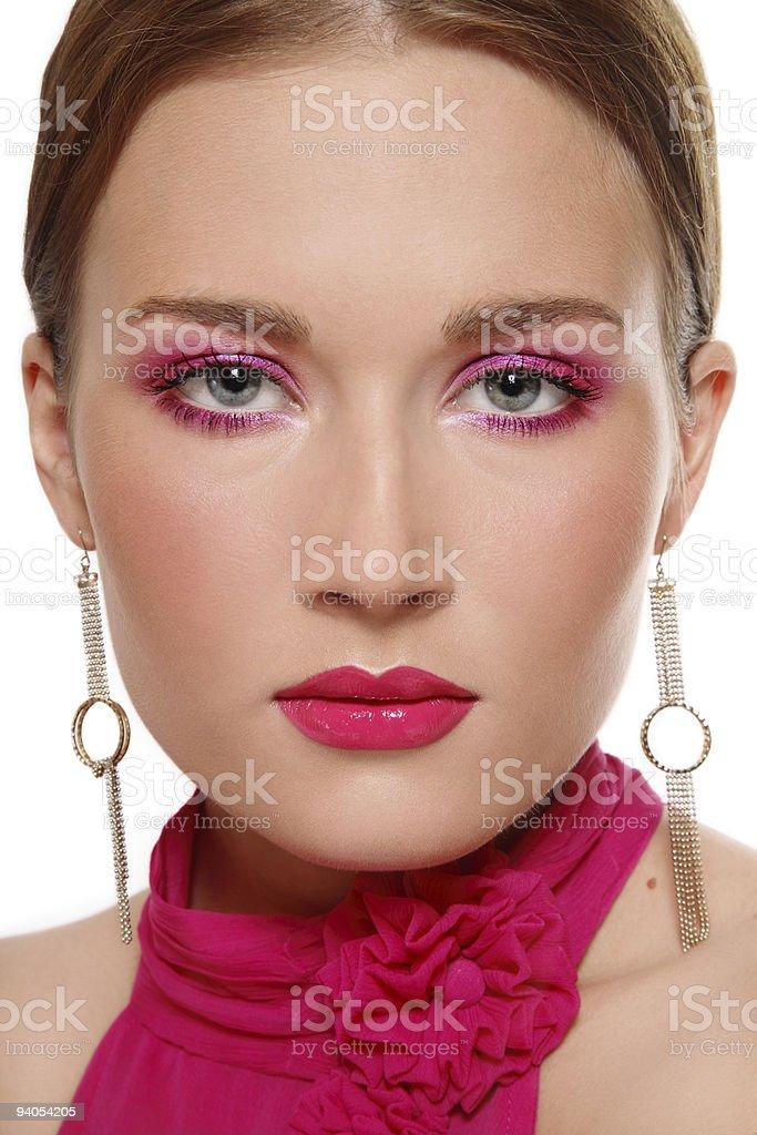 Pink makeup stock photo