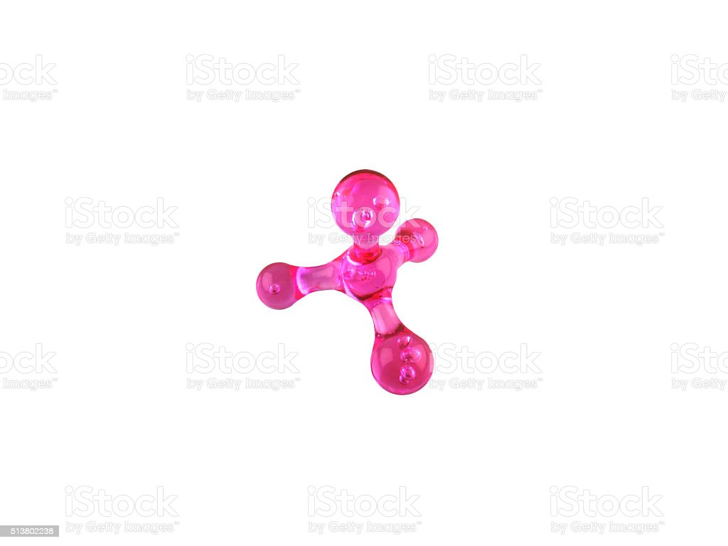 pink manual masseur for a body on a white background stock photo