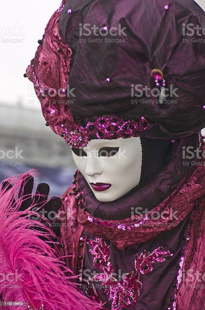 pink mask royalty-free stock photo