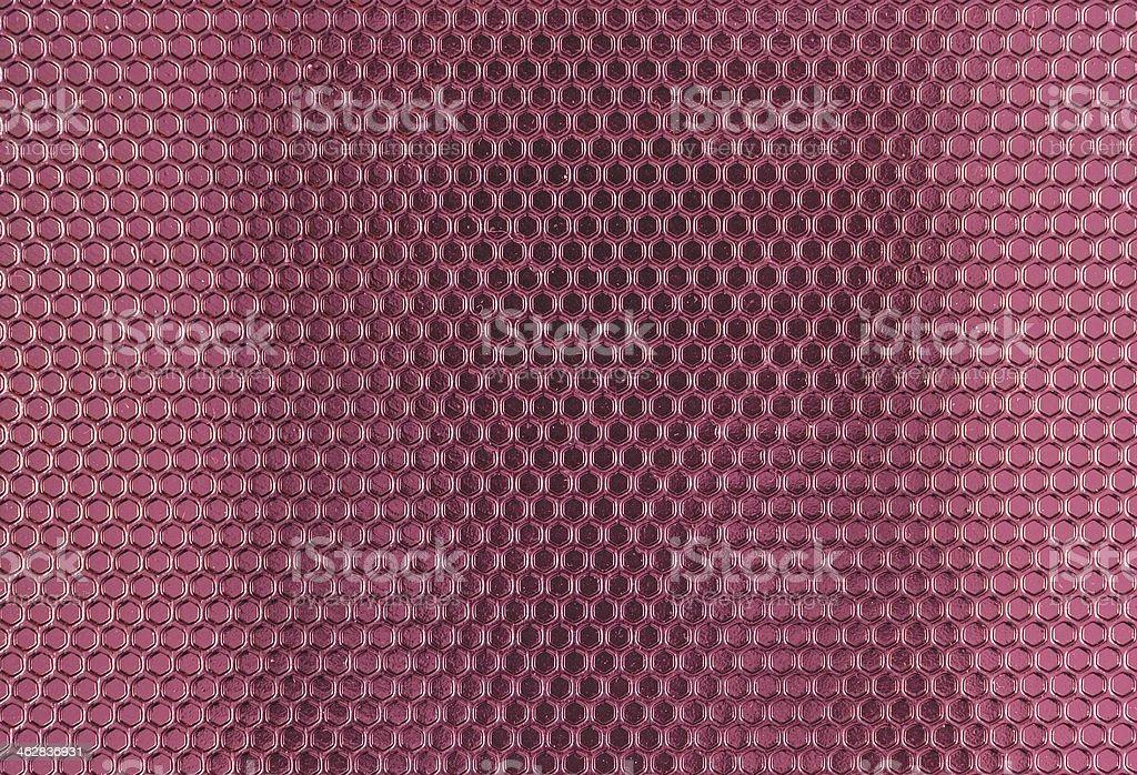 Pink Metal Hex Cells Texture stock photo