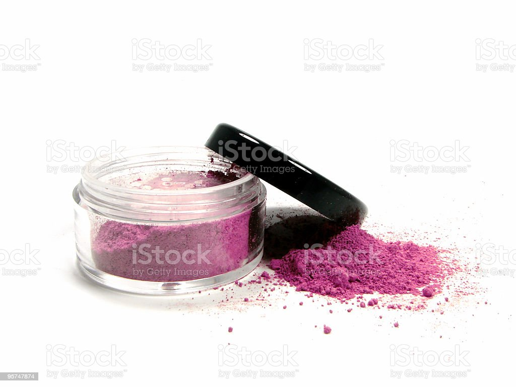 Pink mineral make up royalty-free stock photo