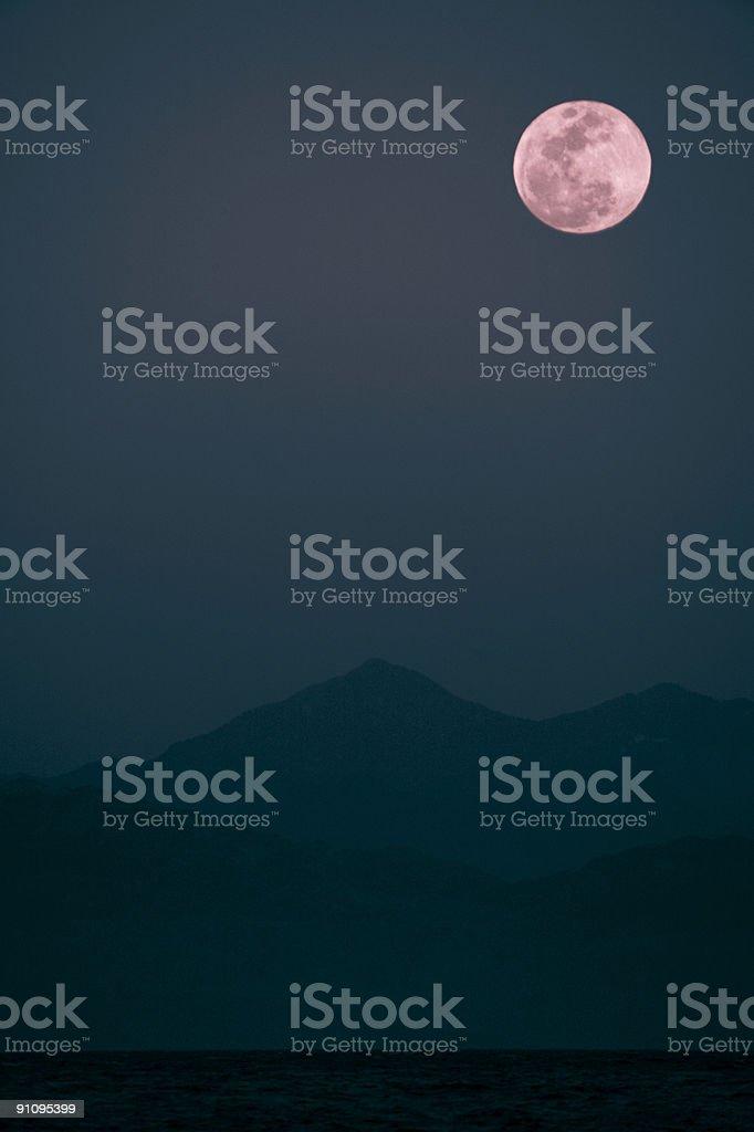 pink moon royalty-free stock photo
