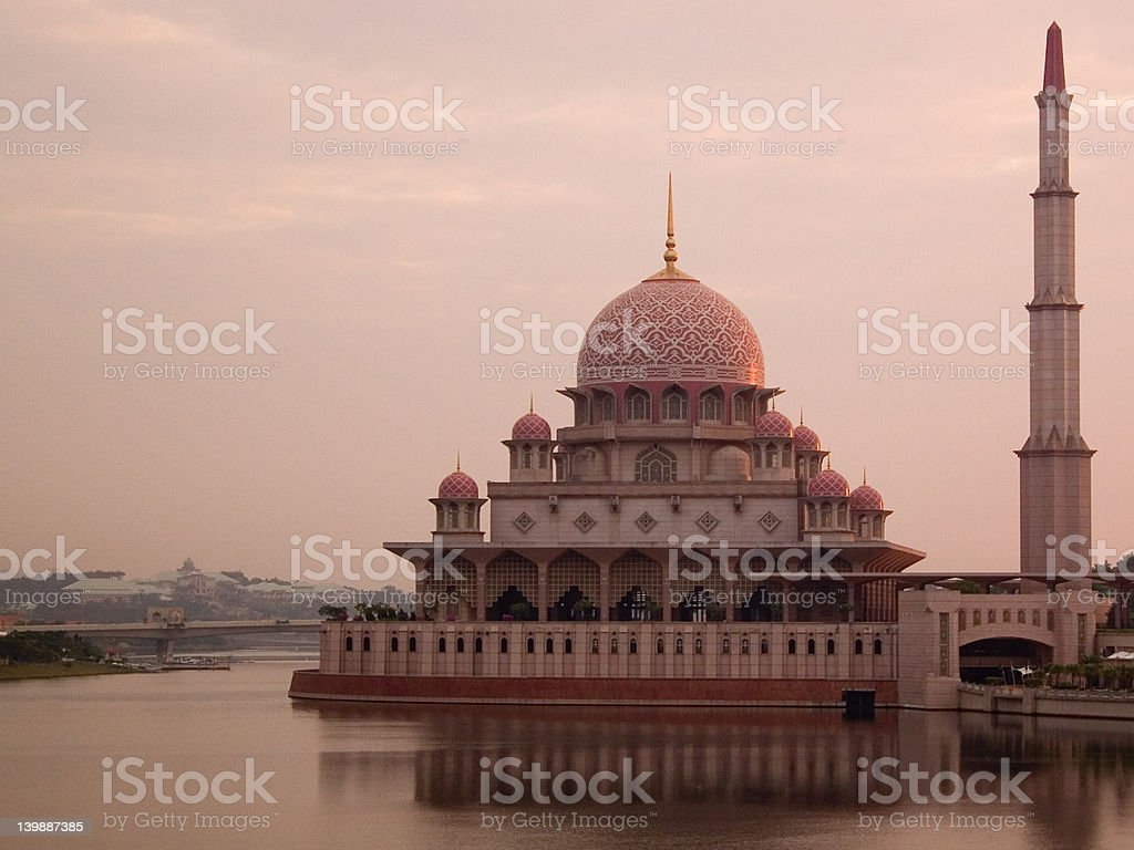 Pink Mosque - Heritage of Islam royalty-free stock photo
