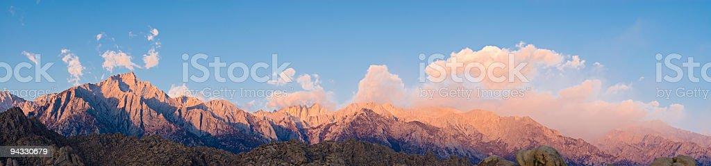 Pink mountain high royalty-free stock photo