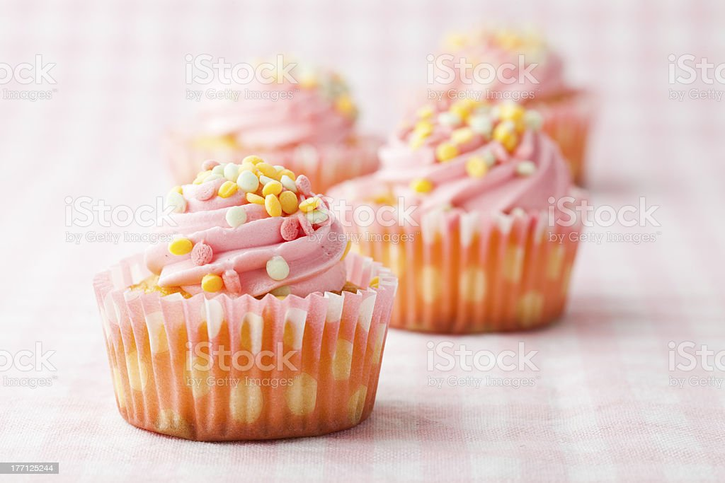 Pink muffins royalty-free stock photo