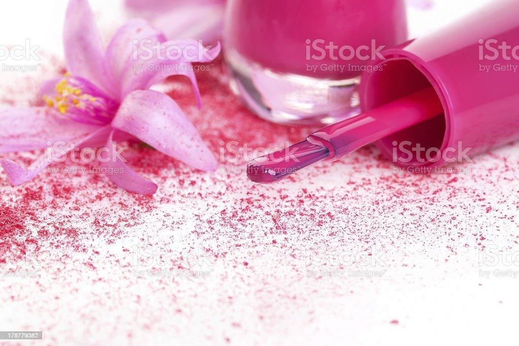 Pink nail polish background. royalty-free stock photo