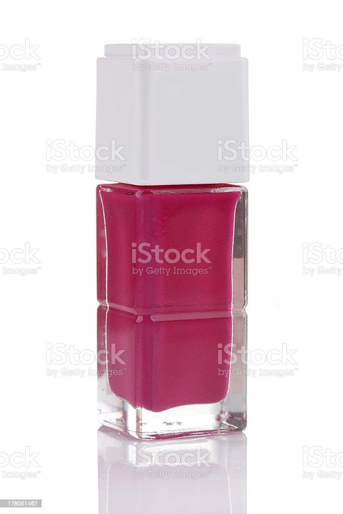 Pink nail polish royalty-free stock photo