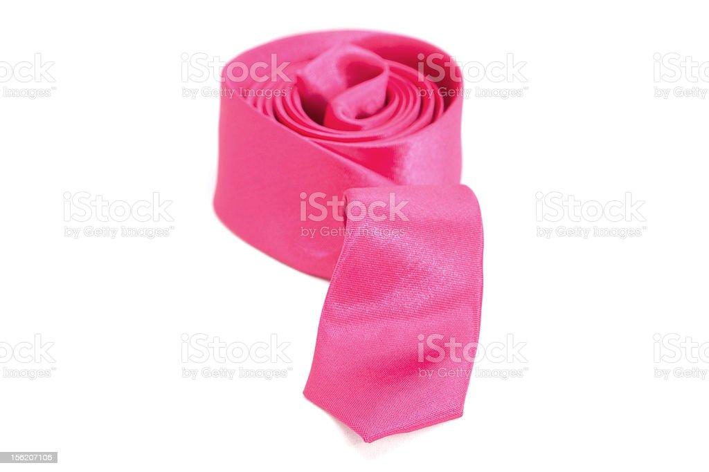 Pink necktie royalty-free stock photo
