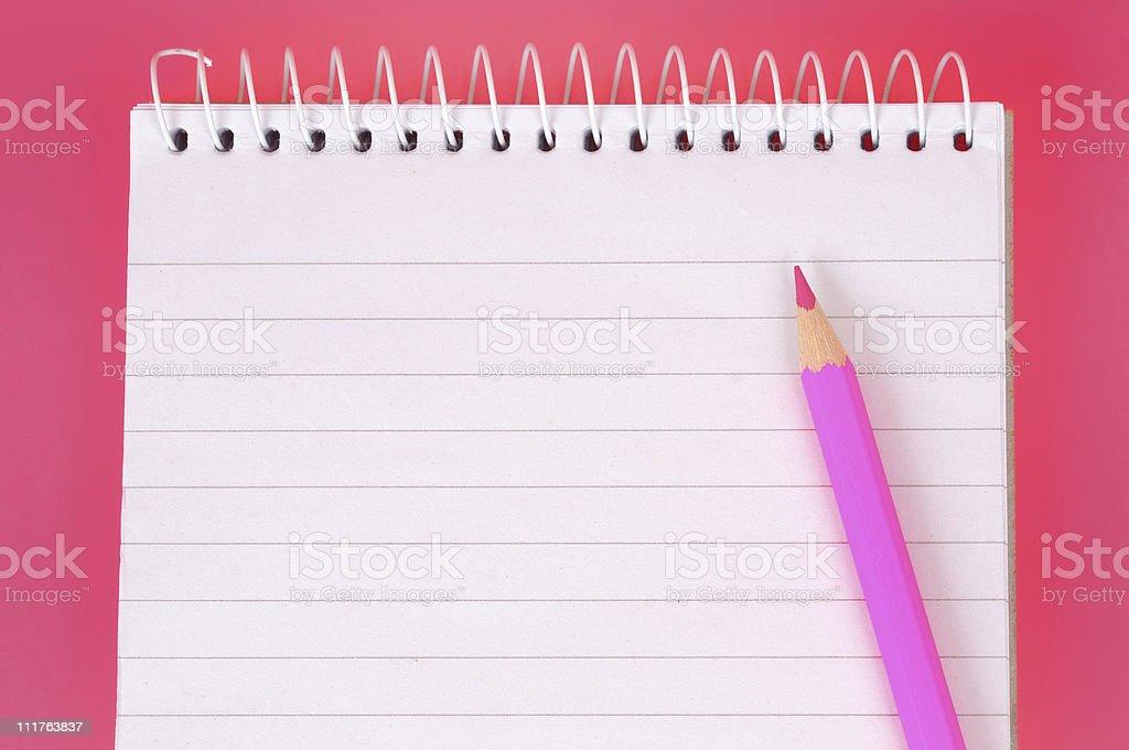 Pink Notepad royalty-free stock photo