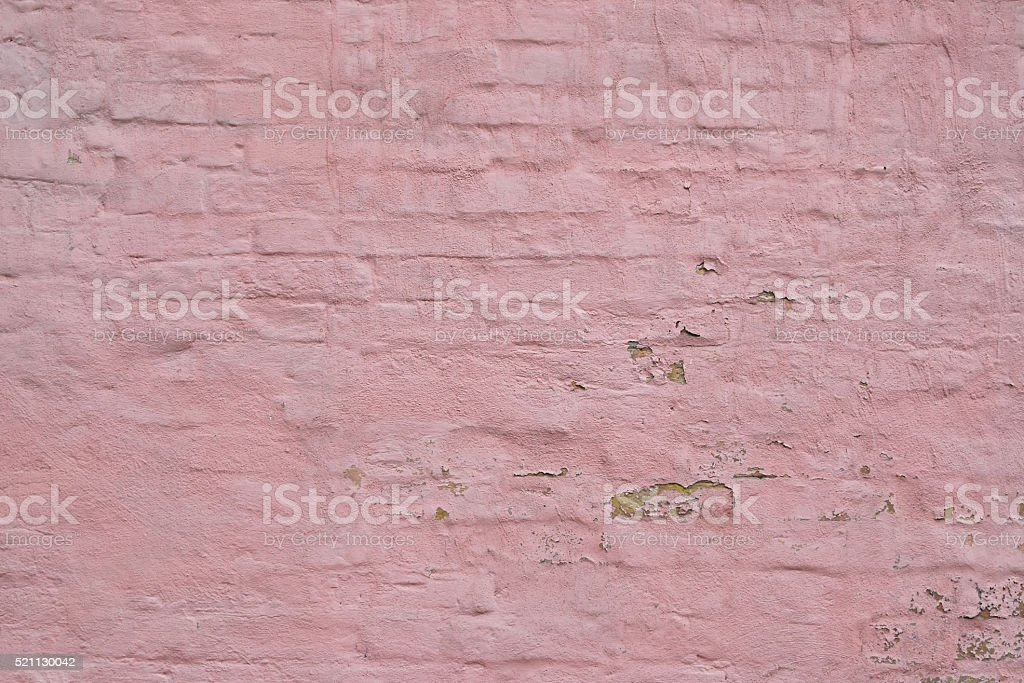 Pink painted brick wall background royalty-free stock photo