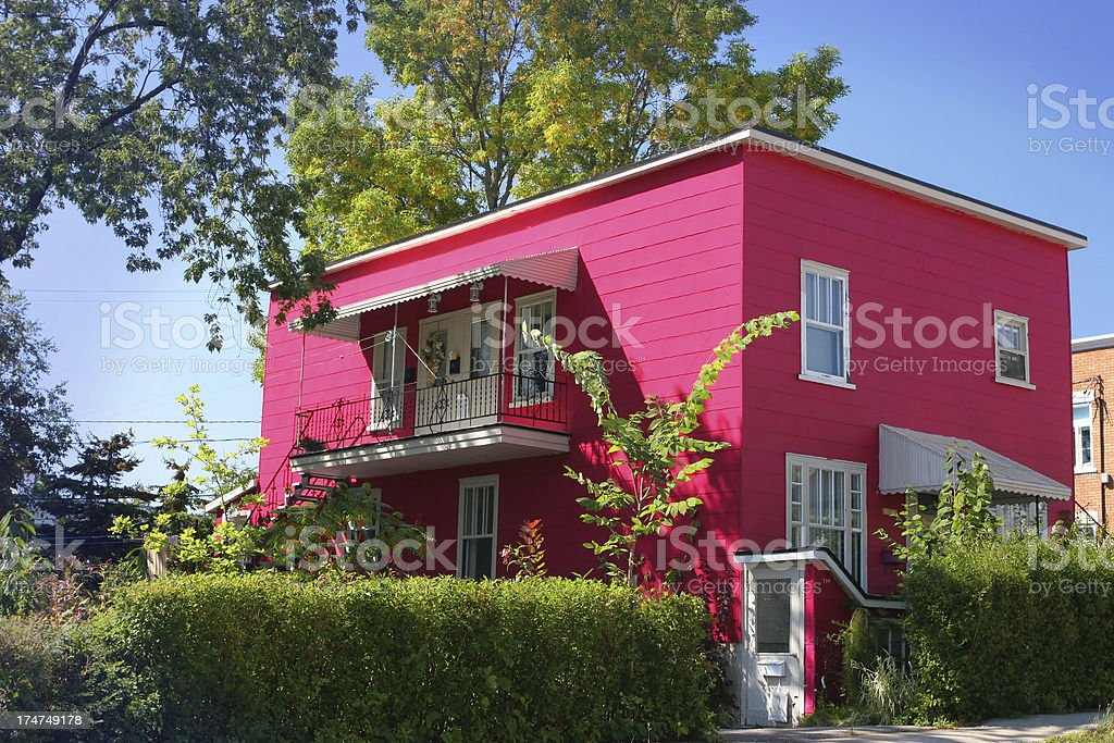 Pink Panther House stock photo