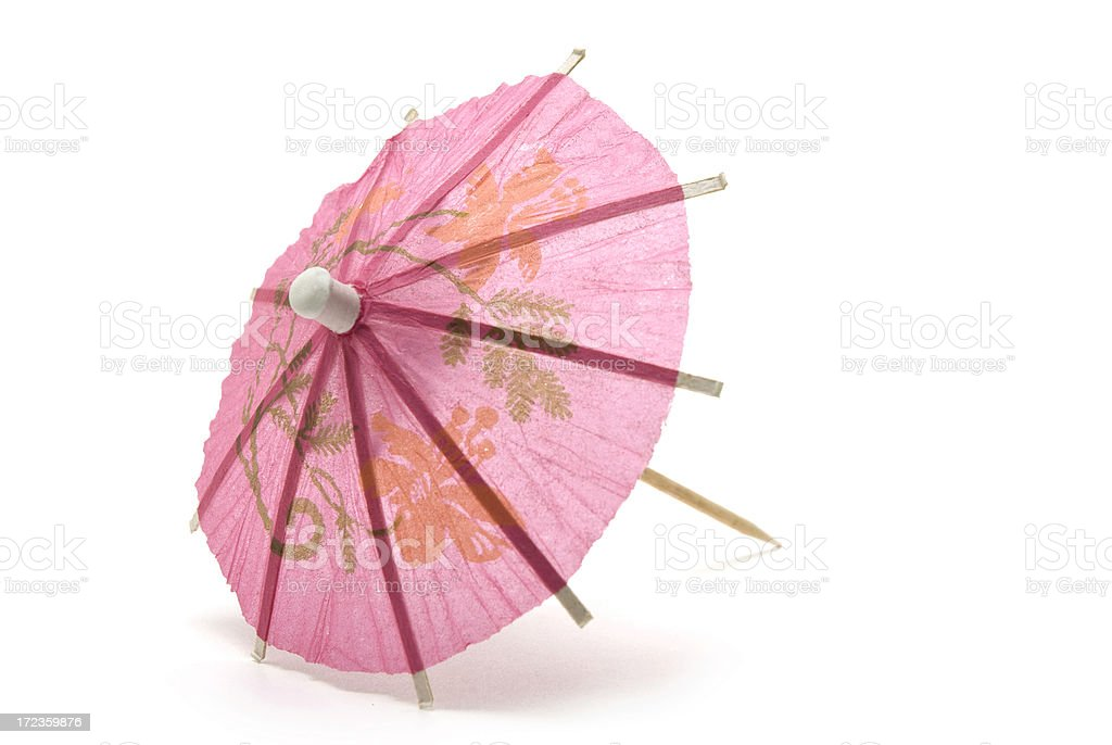 Pink Paper Cocktail Umbrella royalty-free stock photo