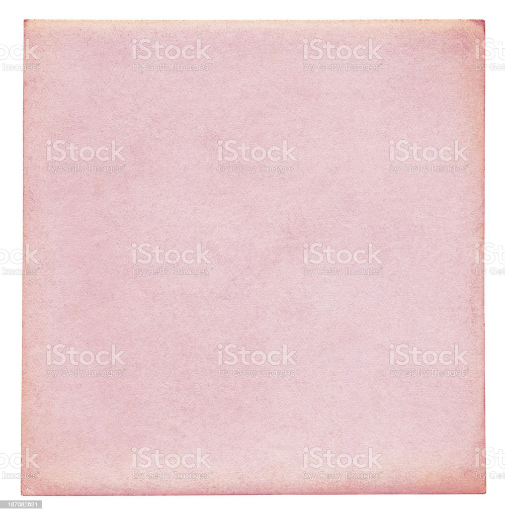 Pink paper isolated (clipping path included) royalty-free stock photo