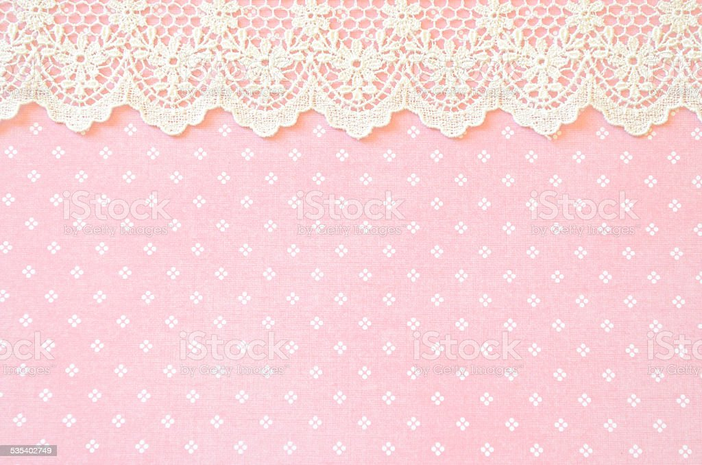 Pink Paper with a Lace Border stock photo