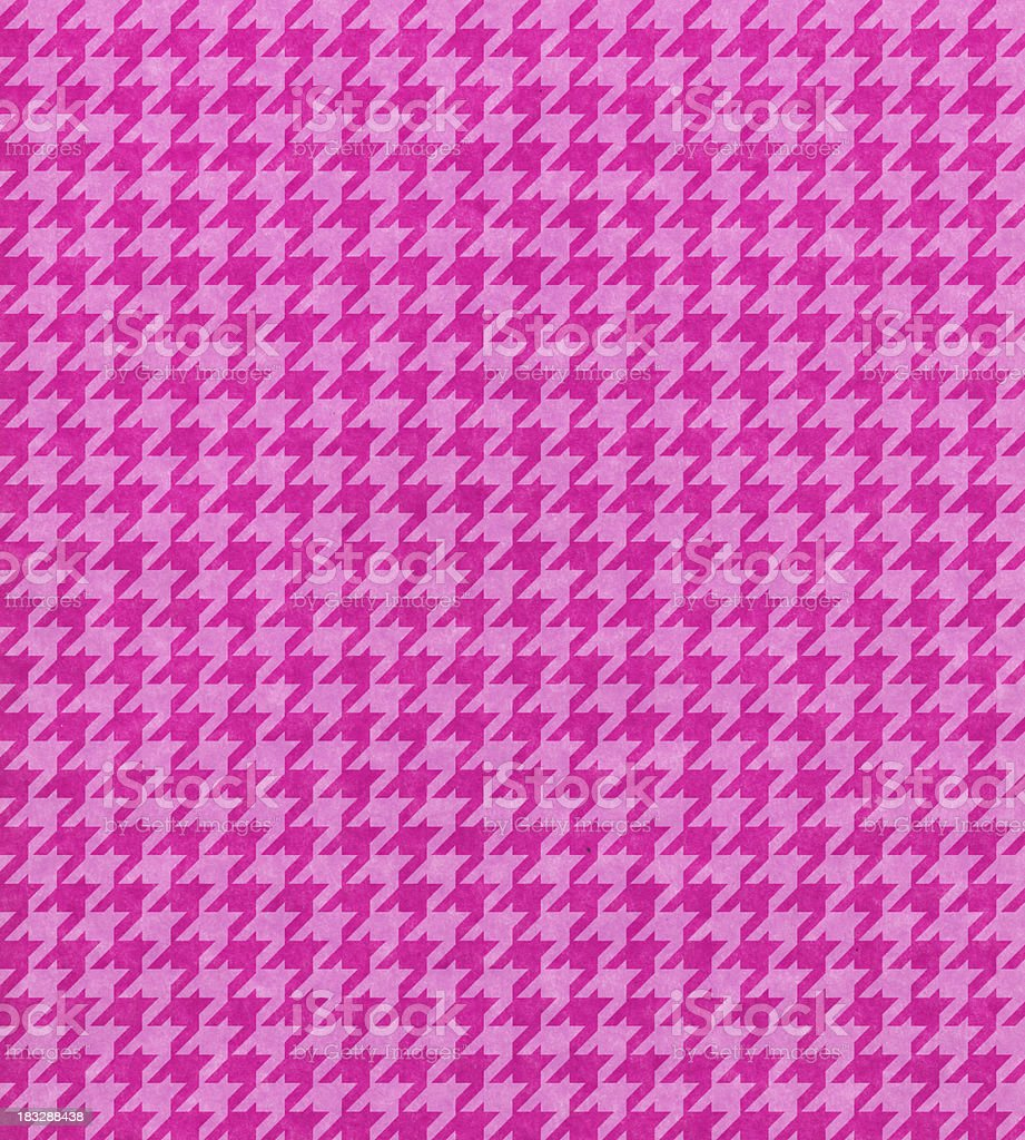 pink paper with houndstooth pattern stock photo