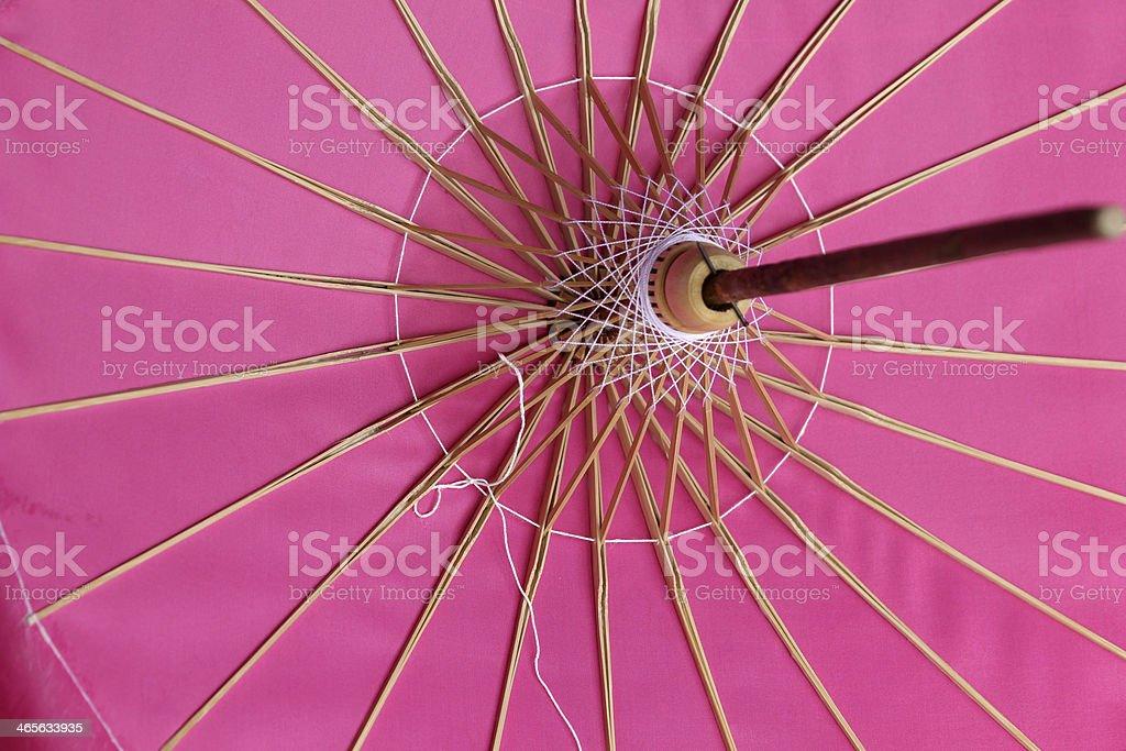 Pink parasol. royalty-free stock photo