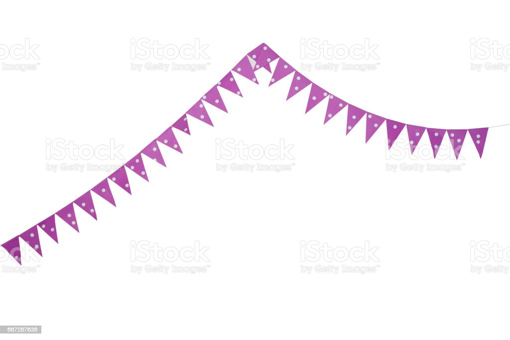 pink party bunting flags stock photo