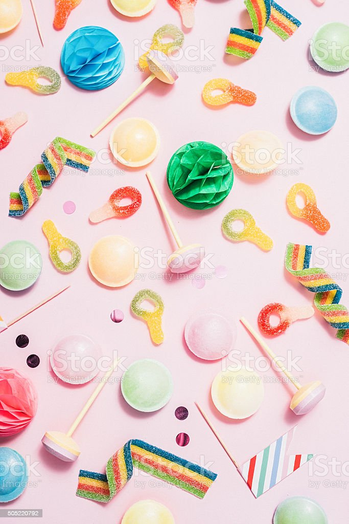 Pastel Candy Makeup Tutorial: Pink Pastel Candy Background Stock Photo 505220792