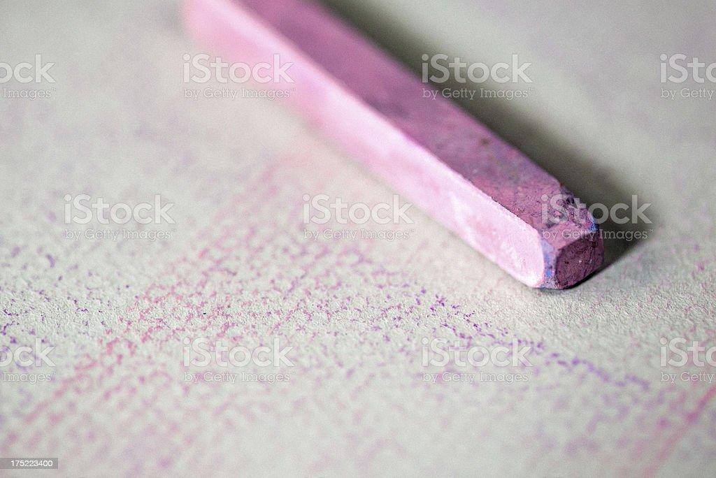 Pink pastel stick royalty-free stock photo