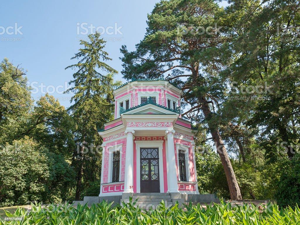 Pink pavilion stock photo