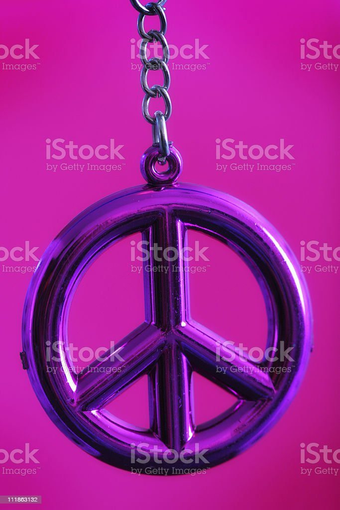 Pink Peace royalty-free stock photo