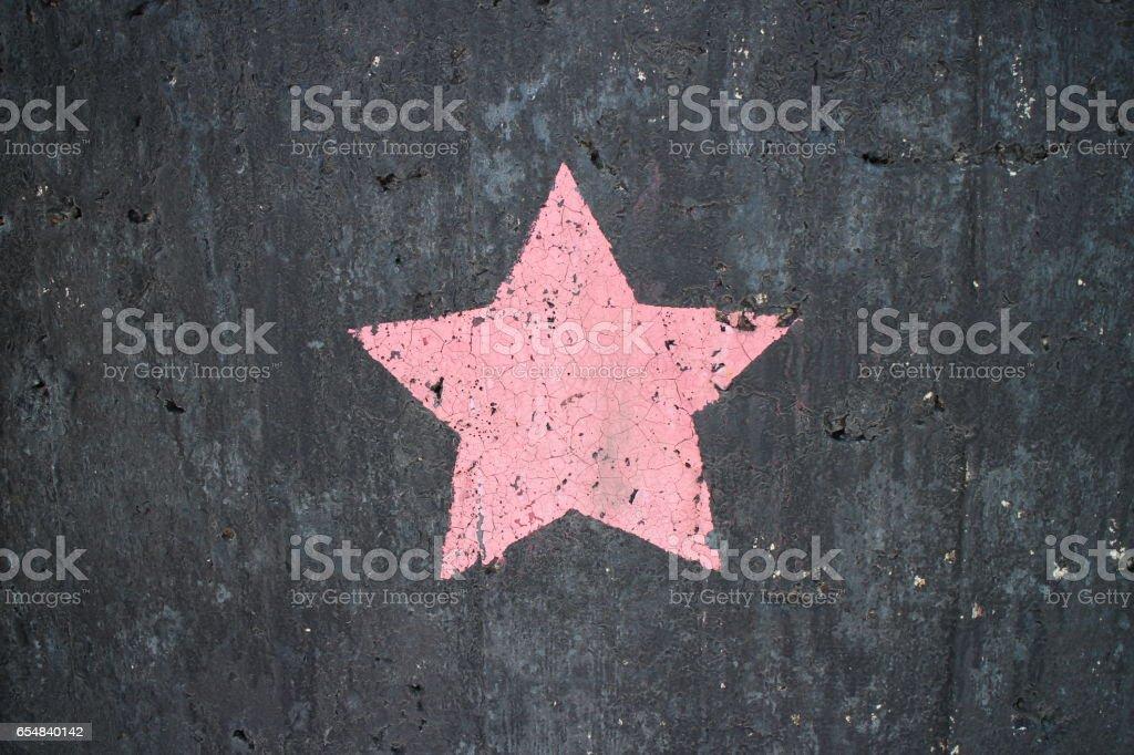 pink pentagram  star stock photo
