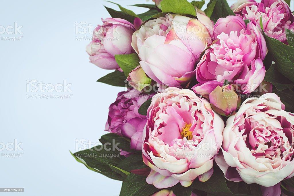 Pink Peony bouquet stock photo
