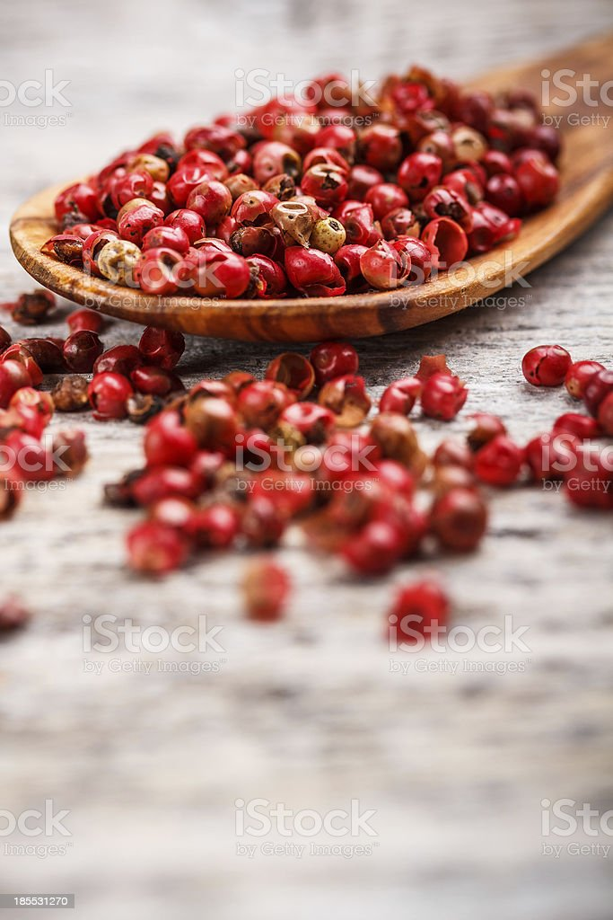 Pink pepper berries royalty-free stock photo